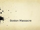 Boston Massacre Document Analysis for Historical Thinking Skills