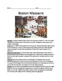 Boston Massacre - Full History Review Article Questions Vocab Facts Activities