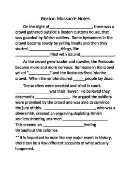 Boston Massacre Guided Notes