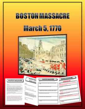 Boston Massacre Lesson with questions