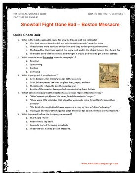 Boston Massacre  Podcast Package U.S. History