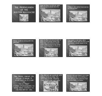 Boston Massacre Power Point Presentatin:  Propaganda in the Picture!