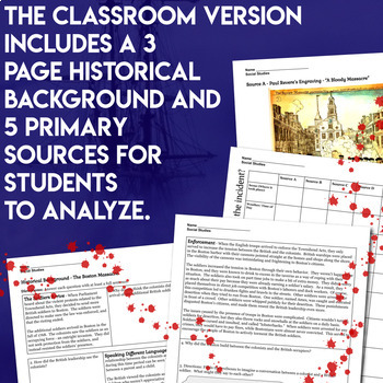 Boston Massacre Primary Source Inquiry Investigation American Revolution