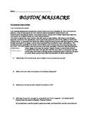 Boston Massacre Primary Sources