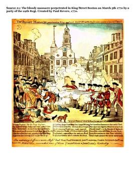 Boston Massacre Primary and Secondary Sources Text Set/DBQ
