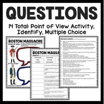 Boston Massacre Reading Comprehension; American Revolution