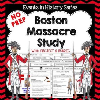 Boston Massacre Study and Rubric