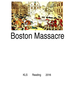 Boston Massacre - picture supported text lesson questions - American Revolution