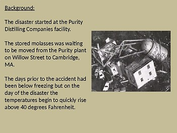 Boston Molasses Flood of 1919 - Power Point History Facts Information Pictures