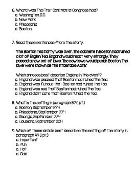 Boston Tea Part Summary Test