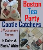 Boston Tea Party Activity: Revolutionary War Unit (Cootie Catcher Review Game)