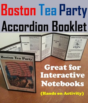 Boston Tea Party Interactive Notebook Foldable/ Revolution