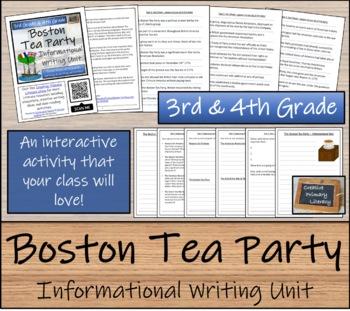 Boston Tea Party - 3rd Grade & 4th Grade Informational Text Writing Activity