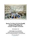 Boston Tea Party Activities BUNDLE : Integrated Reading & History Activities: