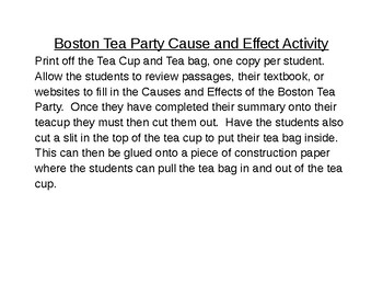 Boston Tea Party: Cause and Effect