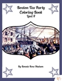 Boston Tea Party Coloring Book-Level A