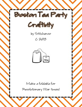 Boston Tea Party Craftivity