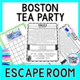 Boston Tea Party ESCAPE ROOM:  Causes of the Revolutionary War - Print & go!