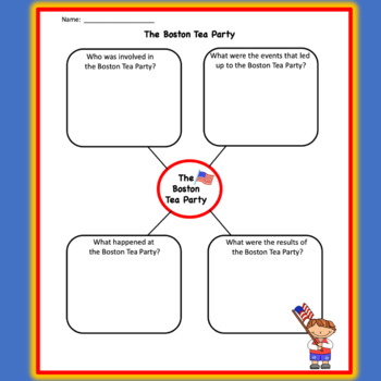 boston tea party graphic organizer free by eliselovestoteach tpt. Black Bedroom Furniture Sets. Home Design Ideas