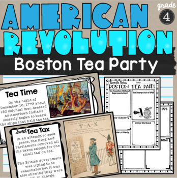 Boston Tea Party Lesson and Doodle Notes SS4H1a