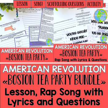 Boston Tea Party Lesson and Rap Song BUNDLE