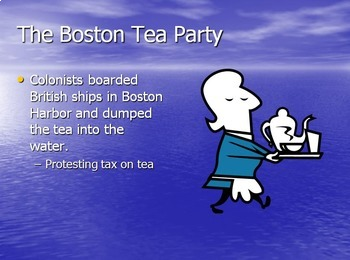 Boston Tea Party Worksheet Review, Notes and PowerPoint