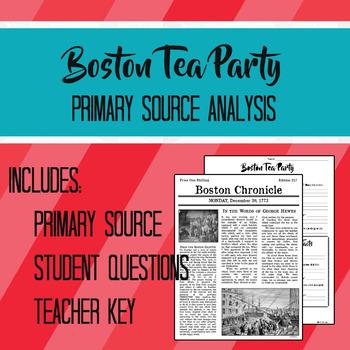 Boston Tea Party Primary Source Analysis