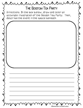 Boston Tea Party - Reading Comprehension Worksheet & Activity