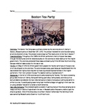 Boston Tea Party - Review Article Questions Vocab Activiti