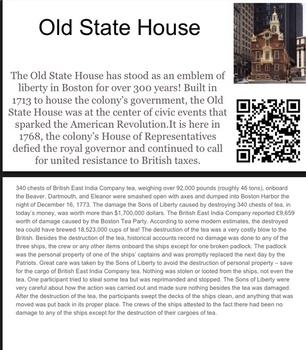Boston Tea Party Scavenger Hunt