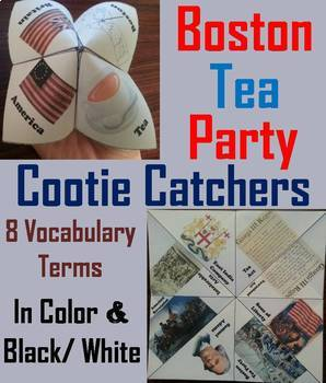 Boston Tea Party Task Cards and Activities Bundle