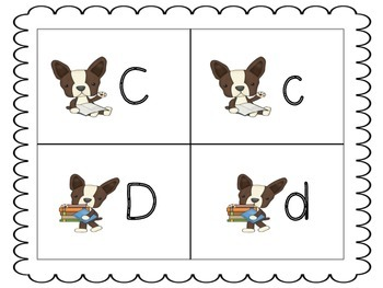 Boston Terrier ABC Match Up