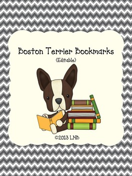 Boston Terrier Bookmarks