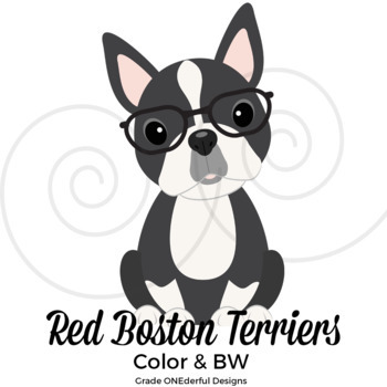 boston terrier clip art by grade onederful teachers pay teachers rh teacherspayteachers com Boston Terrier Cartoon Boston Terrier Graphic