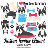 Boston Terrier Clip Art