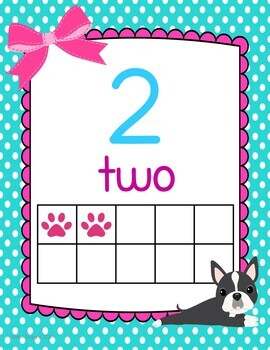 Boston Terrier - Number Posters