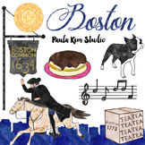 Boston Watercolor Clip Art