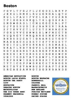 Boston Word Search
