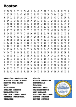Boston Word Search