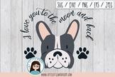 Boston terrier grey, svg, eps, png, dxf, jpeg