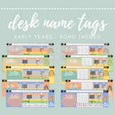 Boho Desk Name Labels - Early Years