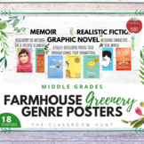 Botanical Farmhouse Genre Posters for Middle Grades