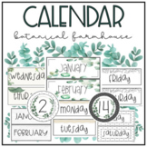 Farmhouse Botanical Calendar | Greenery Calendar - Classroom Decor