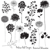 Botanical Silhouettes Clipart