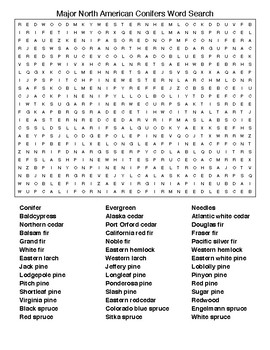 Trees and their Parts Crossword Puzzle & Word Searches wKEYS