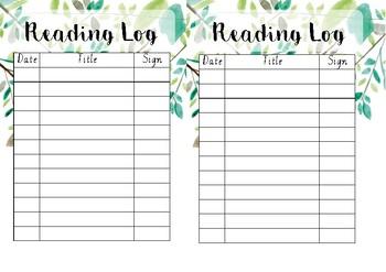Botanical reading logs