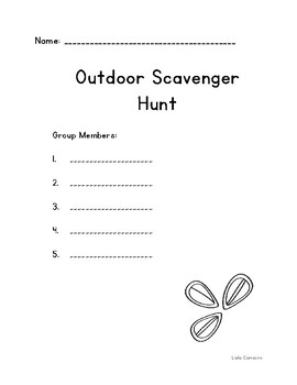Botany: Outdoor Scavenger Hunt
