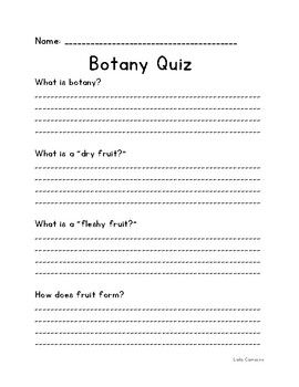 Botany Quiz