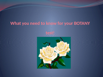 Botany and Mitosis PPT - Great for Revision