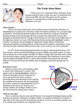 Botox Close Reading